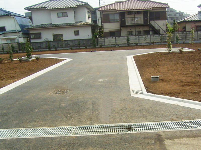 置指定道路新設工事の写真