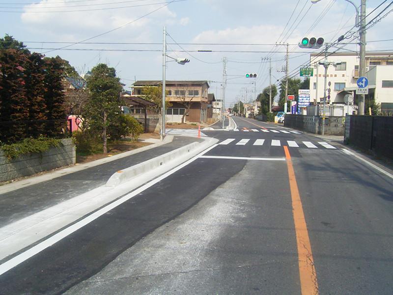 歩道設置工事の写真