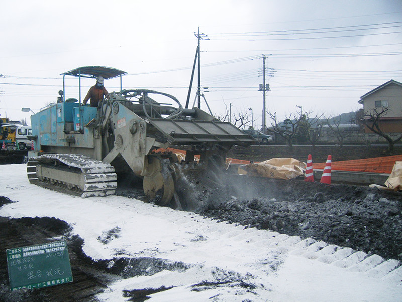 地盤改良工事の写真
